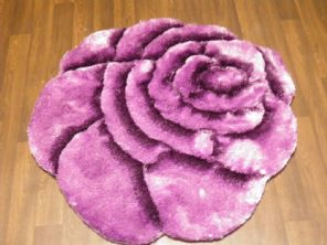 Area Rug Home 3D Rose Design Sparkle Living Room Bedroom Floor Mats Nice purple